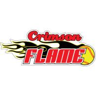 Crimson Flame Softball logo vector logo