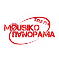 Mousiko Panorama 100.8FM logo vector logo