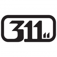 311 logo vector logo