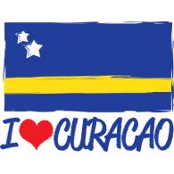 I Love Curacao logo vector logo