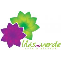 lilas no verde logo vector logo