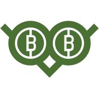 Bitcoin Owl logo vector logo