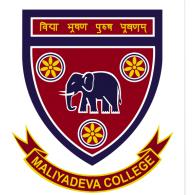 Maliyadeva College logo vector logo