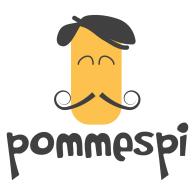 Pommespi logo vector logo