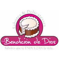 SABORES Y DELICATESSES LA BENCION DE DIOS logo vector logo