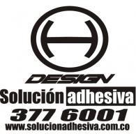 H-design Solución Adhesiva logo vector logo