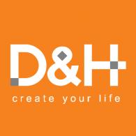 D&H logo vector logo
