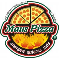 Maus Pizza logo vector logo