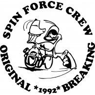 Spin Force Crew Old School Breaking logo vector logo
