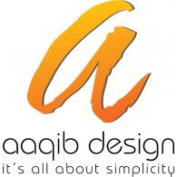 Aaqib Design logo vector logo
