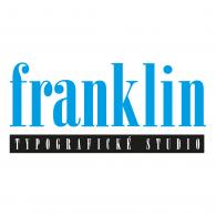 Franklin typografické studio logo vector logo