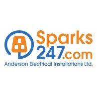 Sparks247 logo vector logo
