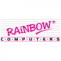 Rainbow Computers logo vector logo