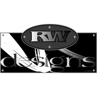 RW Designs logo vector logo