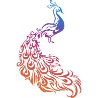 Peacock logo vector logo
