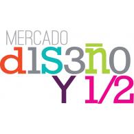 Mercado Diseño y 1/2 logo vector logo