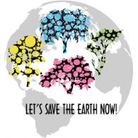 Let's Save the Earth Now logo vector logo