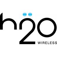 h2o Wireless logo vector logo