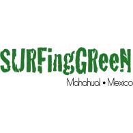 Surfing Green logo vector logo