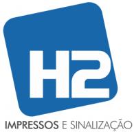H2 logo vector logo