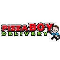 Pizza Boy Delivery logo vector logo