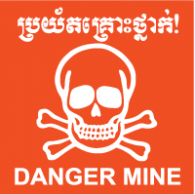Danger Mine Cambodia logo vector logo