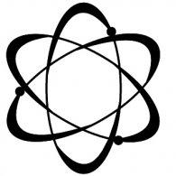 Atom Black logo vector logo