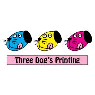 Three Dogs Printing 3 Dogs Printing logo vector logo