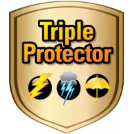 Triple Protector logo vector logo