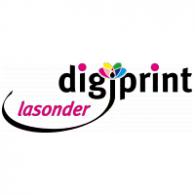 Lasonder Digiprint logo vector logo