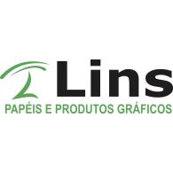 Lins Papéis e Produtos Gráficos logo vector logo