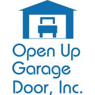 Open Up Garage Door logo vector logo