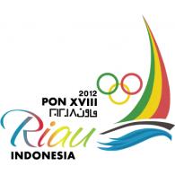 PON XVIII 2012 Riau – Indonesia logo vector logo