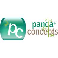 Panda Concepts logo vector logo